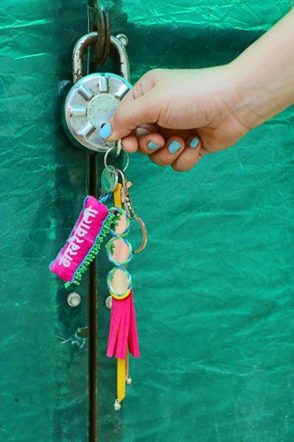 Nakhrewaali Pink keychain 2